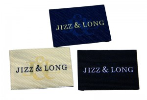 Satin clothing woven labels